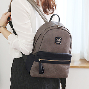 DUAL MINI OFFICE LEATHER BACKPACK