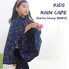 KIDS RAIN CAPE Scarlet Cherry [NAVY] 아동용 우비