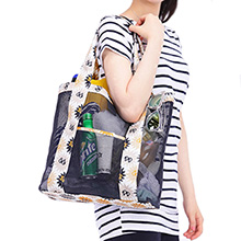 COATING MESH SHOPPER BAG 여행용 쇼퍼백